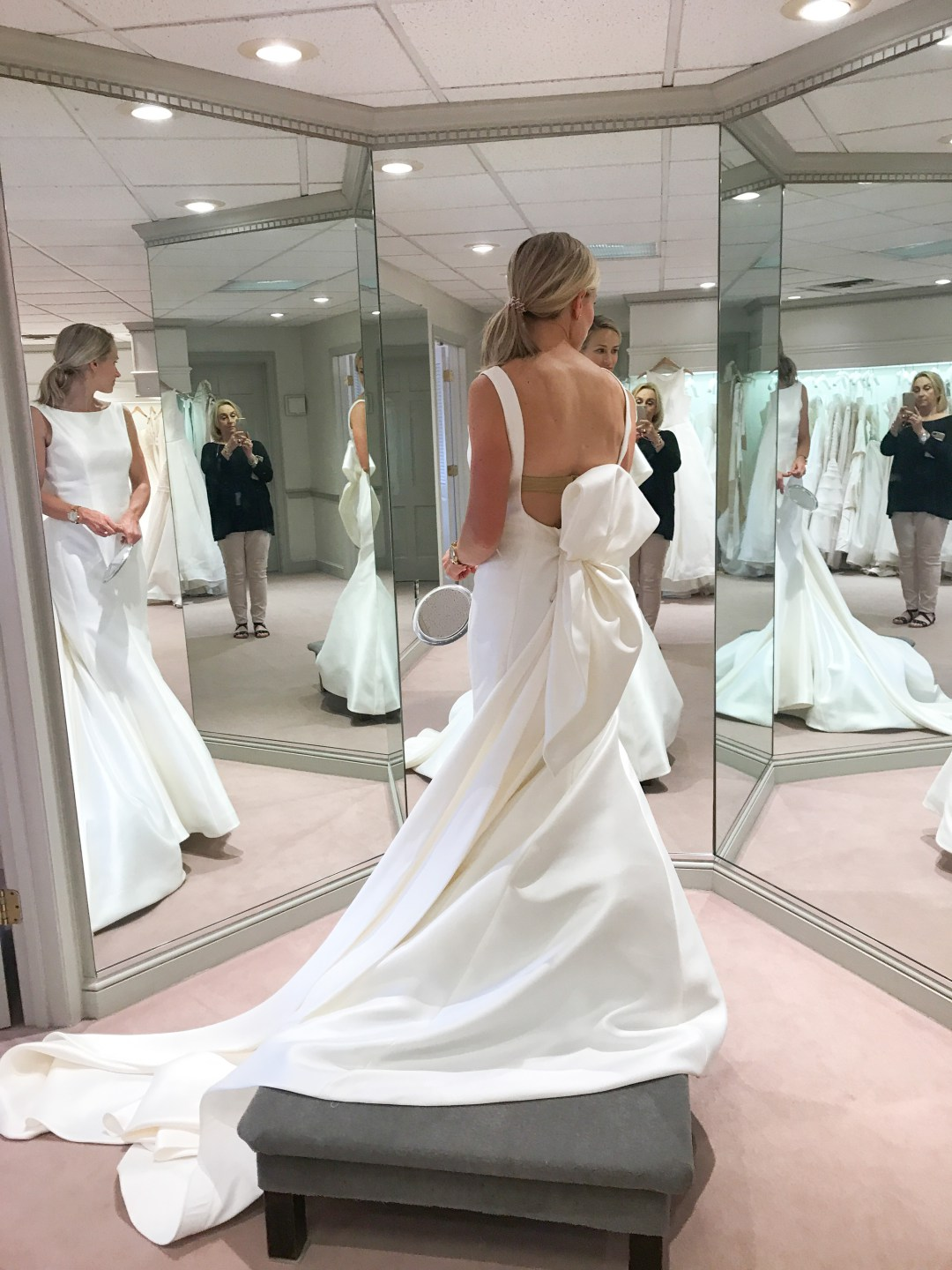 Wedding Dress With Dramatic Back A Foodie Stays Fit